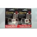 MicroSD Sandisk 32GB Extreme Pro 100Mbps + Adapter